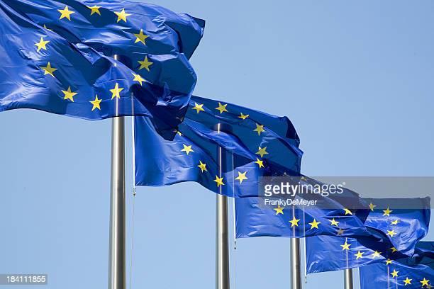 Reihe von europäischen Flaggen