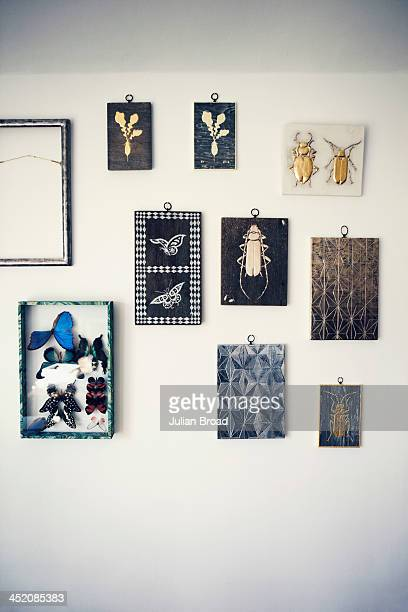 A series of panels hang on the wall of the studio Photographed for the New York Times Style Magazine on August 8 2013 in Kelso Scotland
