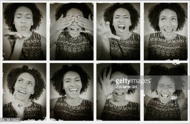 Series of photographs of Black woman from photo booth