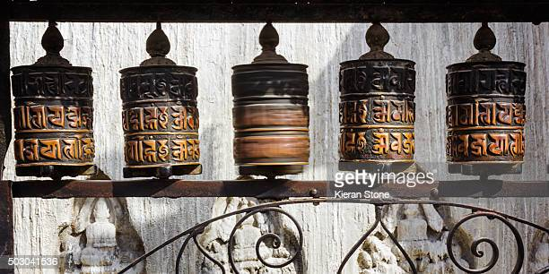 A series of Prayer Wheels in Swayambhunath, Kathmandu, Nepal