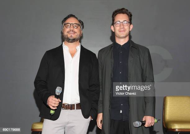 Series production design Bernardo Trujillo and writer Alan Page attend a press conference to promote the series 'Fear The Walking Dead' Season 3 at W...