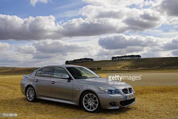 Series silver grey M550i sport car Cotswolds Oxfordshire United Kingdom