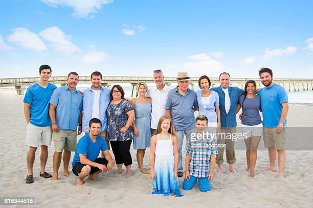 Series:Family having reunion vacation at public beach