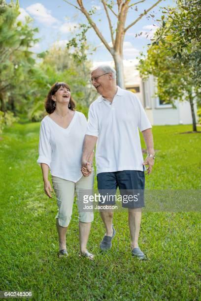 Series:Senior tender moment. Loving heterosexual caucasian couple outdoors