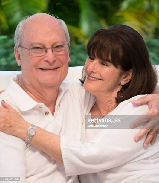 Series:Senior tender moment. Portrait of loving couple. With clipping path