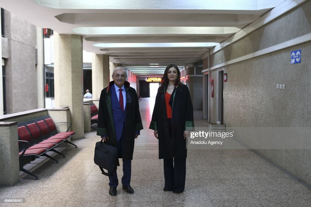 Serif Vural (71), a lawyer poses for a photo with his 39-year-old lawyer daughter Deniz Vural, who had chosen the same field of profession with her father following his lead, in Ankara, Turkey on June 16, 2017. Fathers, sometimes shape the future of their children directing their career and profession choices.