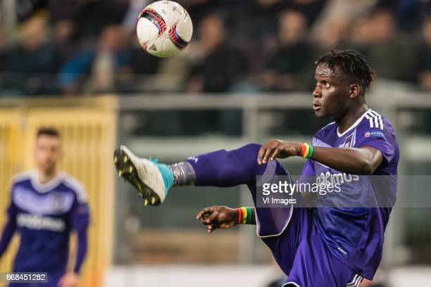 Serigne Mbodj of RSC Anderlechtduring the UEFA Europa League quarter final match between RSC Anderlecht and Manchester United on April 13 2017 at...