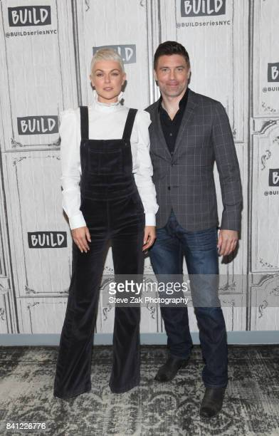 Serinda Swan and Anson Mount attend Build Series to discuss their new show 'Inhumans' at Build Studio on August 31 2017 in New York City