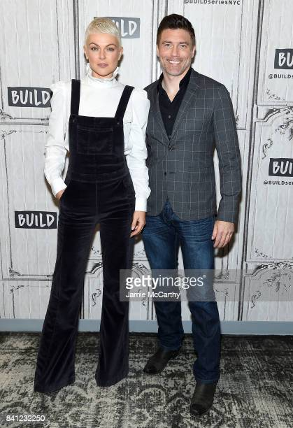 Serinda Swan and Anson Mount attend the Build Series to discuss their new show 'Inhumans'at Build Studio on August 31 2017 in New York City