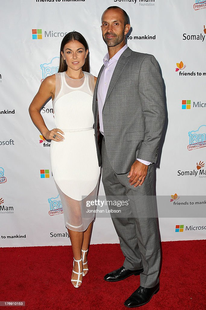 <a gi-track='captionPersonalityLinkClicked' href=/galleries/search?phrase=Serinda+Swan&family=editorial&specificpeople=4388541 ng-click='$event.stopPropagation()'>Serinda Swan</a> and Chris Talbott attend the Microsoft & Friends To Mankind Present: 18for18 Benefiting The Somaly Mam Foundation At The Microsoft Experience - Venice Beach on August 18, 2013 in Venice, California.