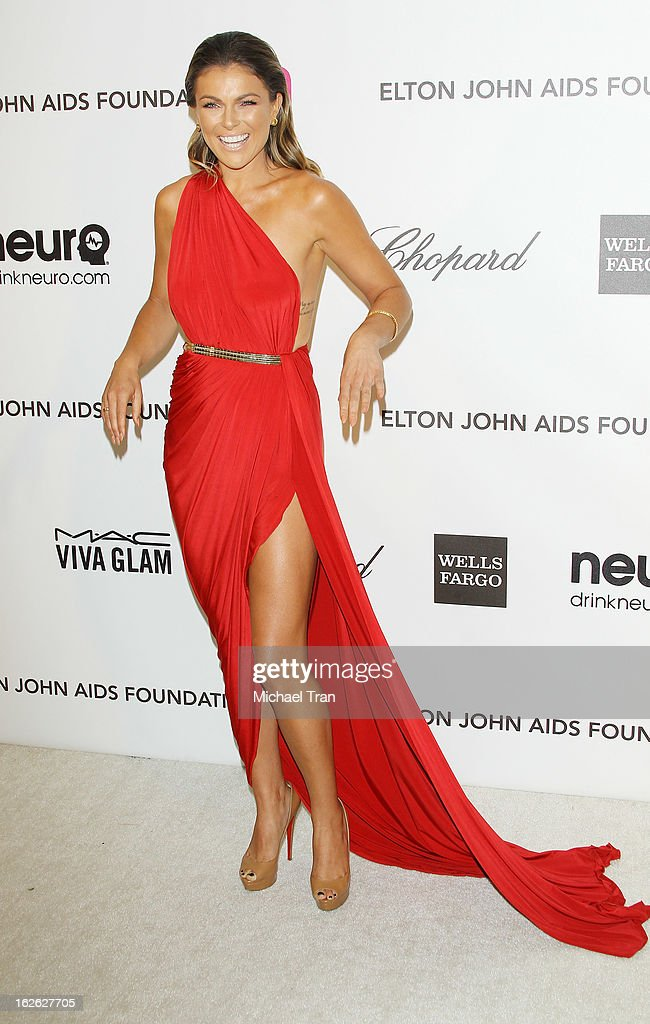 Serinda Swan arrives at the 21st Annual Elton John AIDS Foundation Academy Awards viewing party held at West Hollywood Park on February 24, 2013 in West Hollywood, California.