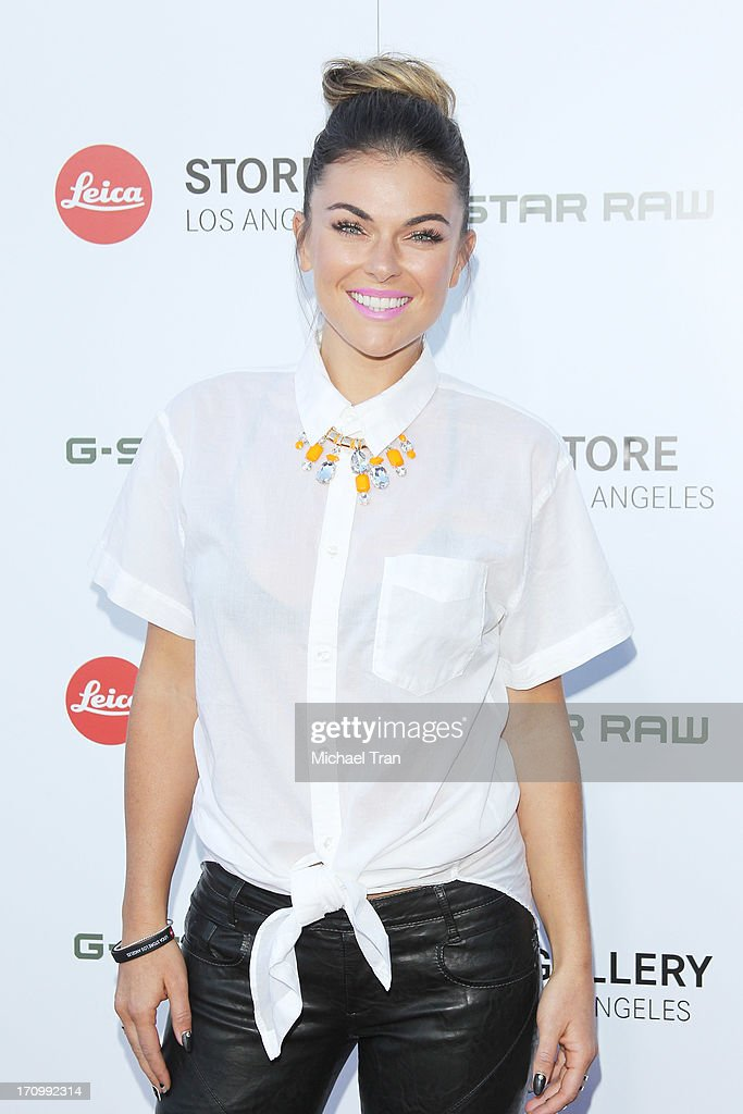 <a gi-track='captionPersonalityLinkClicked' href=/galleries/search?phrase=Serinda+Swan&family=editorial&specificpeople=4388541 ng-click='$event.stopPropagation()'>Serinda Swan</a> arrives at the grand opening of the Leica Store Los Angeles held on June 20, 2013 in Los Angeles, California.
