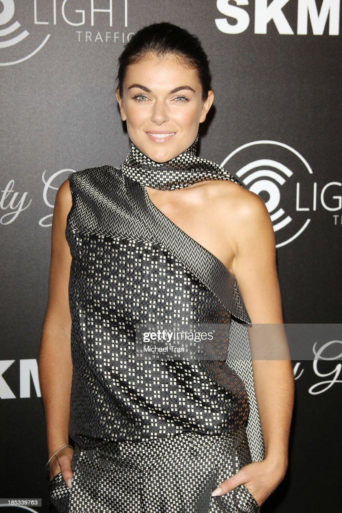 <a gi-track='captionPersonalityLinkClicked' href=/galleries/search?phrase=Serinda+Swan&family=editorial&specificpeople=4388541 ng-click='$event.stopPropagation()'>Serinda Swan</a> arrives at the launch of the Redlight Traffic APP - Dignity Gala held at The Beverly Hilton Hotel on October 18, 2013 in Beverly Hills, California.
