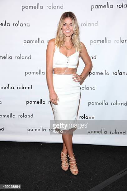 Serinda Swan attends Pamella Roland during MercedesBenz Fashion Week Spring 2015 at The Salon at Lincoln Center on September 9 2014 in New York City