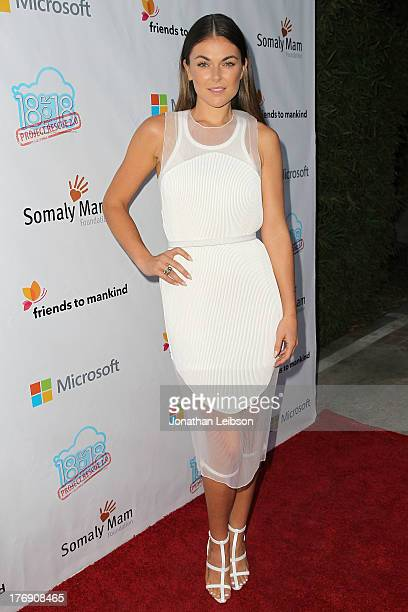 Serinda Swan attends the Microsoft Friends To Mankind Present 18for18 Benefiting The Somaly Mam Foundation At The Microsoft Experience Venice Beach...
