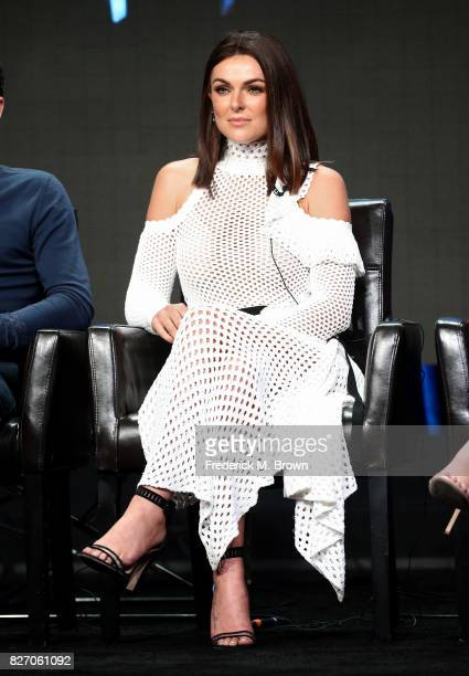 Serinda Swan of 'Inhumans' speaks onstage during the Disney/ABC Television Group portion of the 2017 Summer Television Critics Association Press Tour...