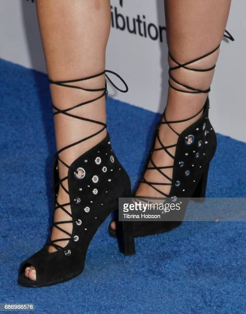 Serinda Swan shoe detail attends the 2017 ABC/Disney Media Distribution International Upfronts at Walt Disney Studio Lot on May 21 2017 in Burbank...