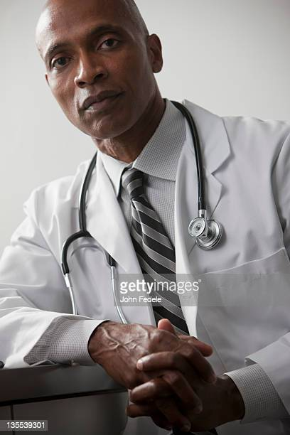 Serious African American doctor