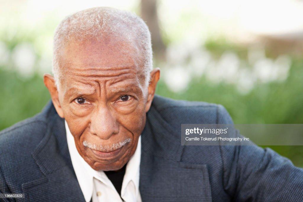 Serious African American man