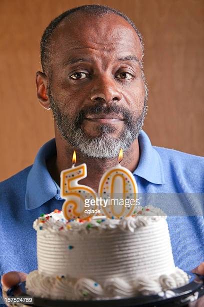 Serious African American Man turning 50 Fifty