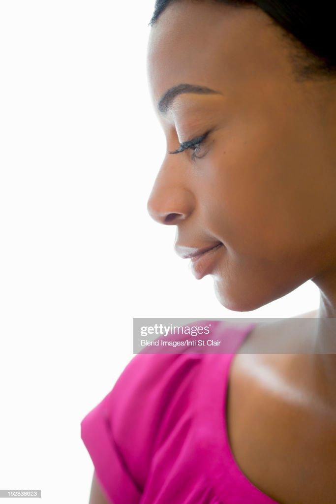 Serious Black woman : Stock Photo
