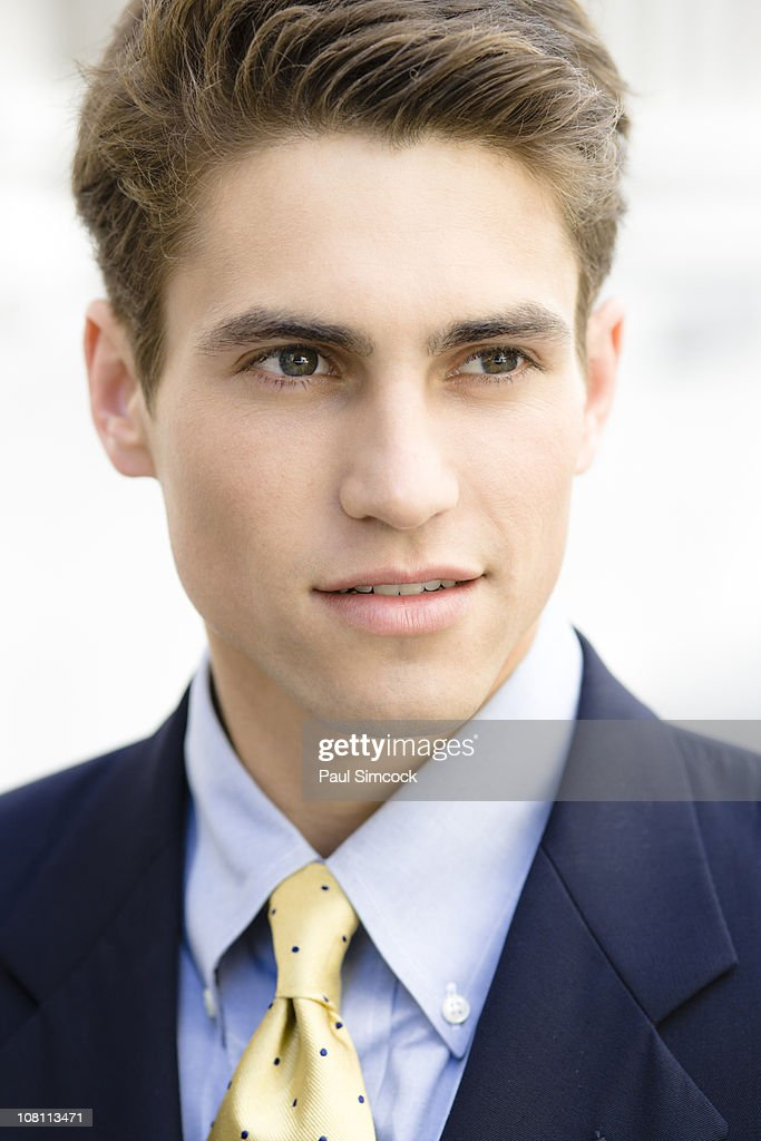 Serious Caucasian businessman : Stock Photo