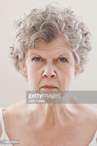 Serious Caucasian woman : Foto de stock
