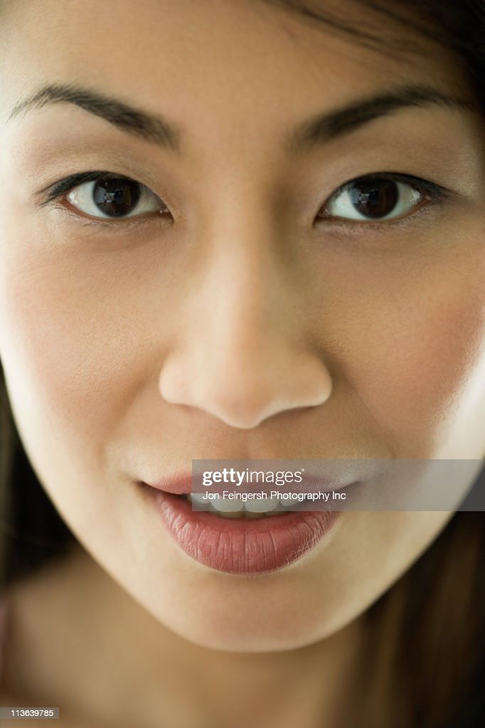 Serious Chinese woman : Stock Photo