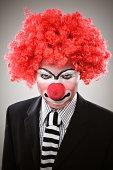 Serious Clown Narrowing Eyes