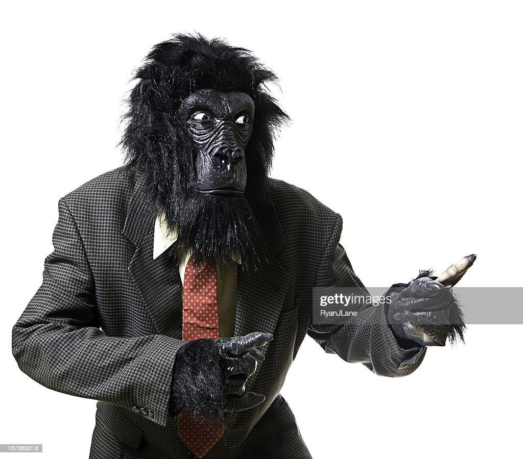 Serious Displeased Gorilla Businessman Portrait