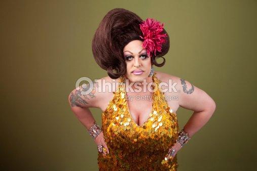 Serious Drag Queen Stock Photo Thinkstock
