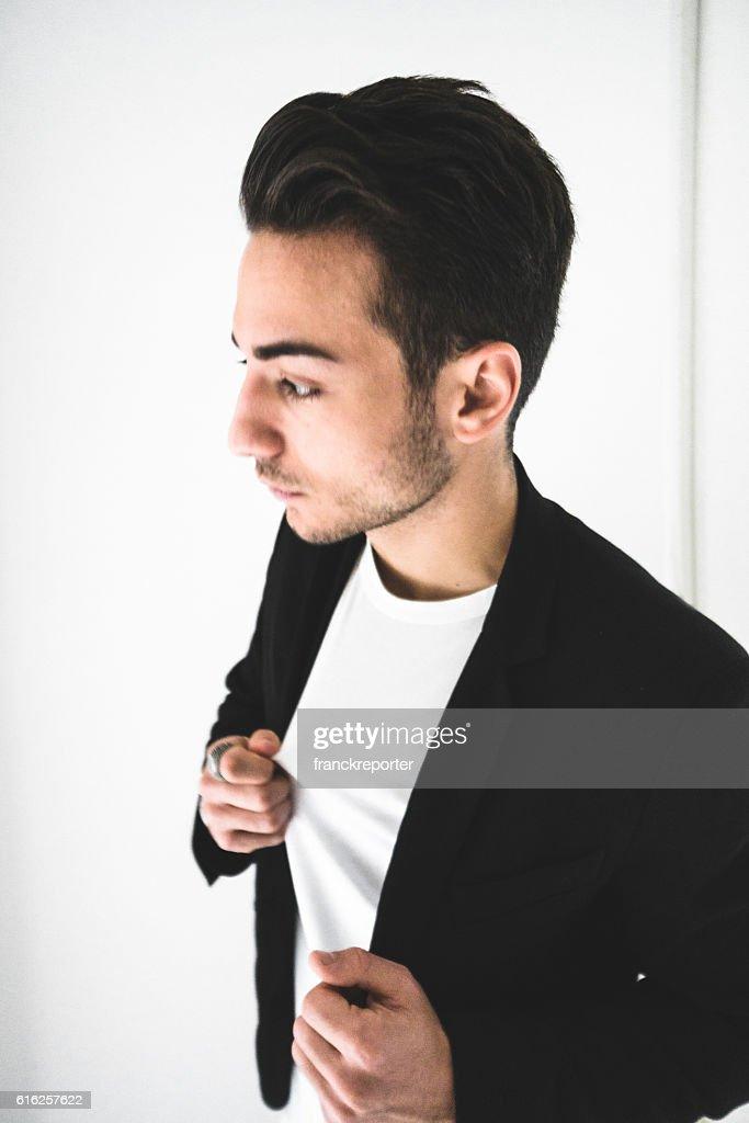 Serious fashion man portrait : Foto de stock