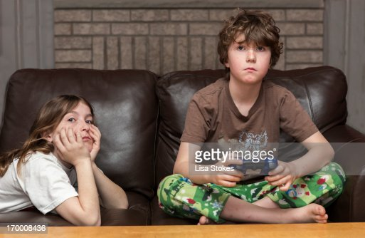 Serious Gamers : Stock Photo