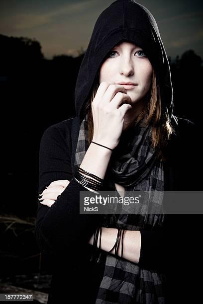 Serious Goth Girl