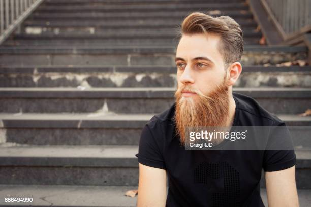 Serious Hipster Expression