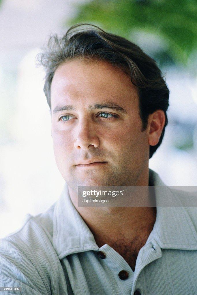 Serious portrait of man : Stock Photo