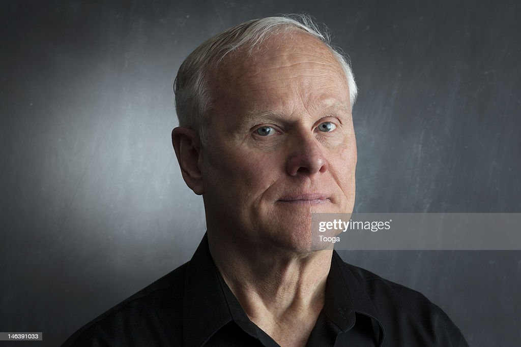 Serious portrait of senior male : Stock Photo