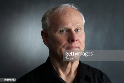 Serious portrait of senior male : Stock-Foto