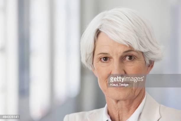 Serious senior Caucasian businesswoman