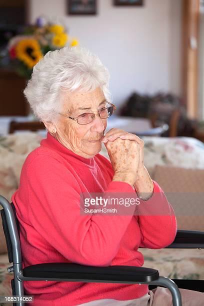 Serious Senior in Wheelchair