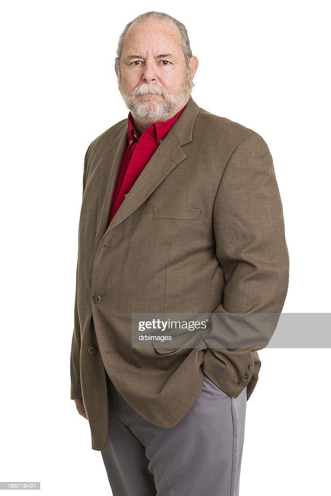 Serious Senior Man Portrait