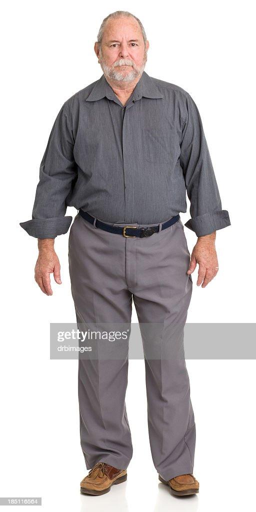 Serious Senior Man Standing