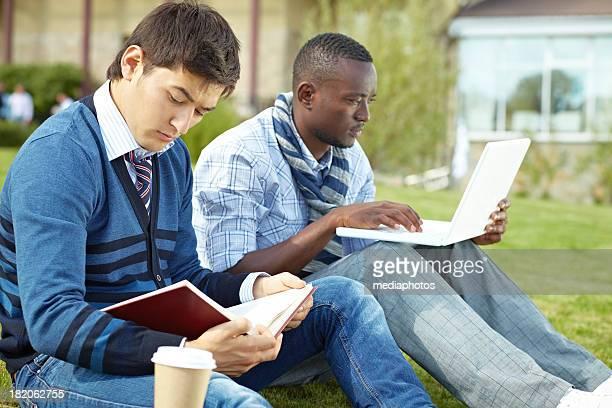 Ernsthafte Studenten