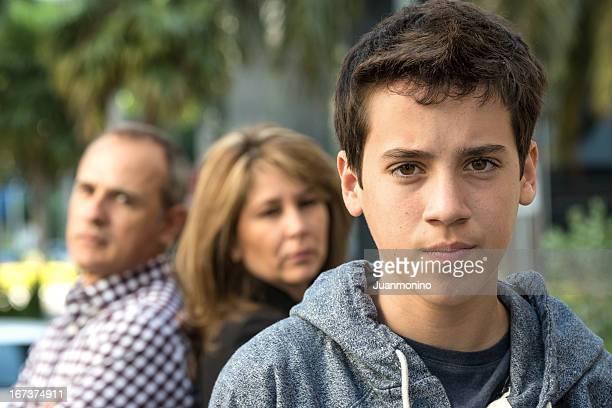 Schwere Teenager-Jungen