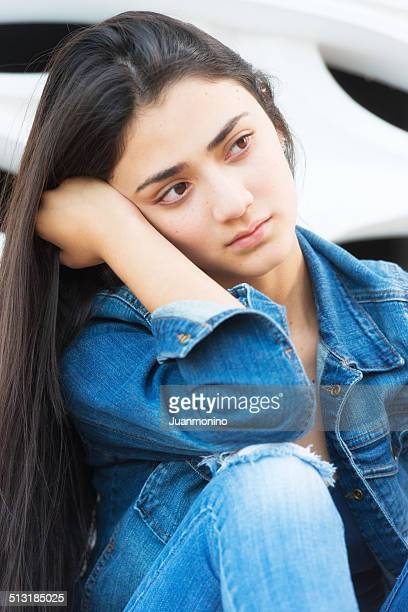 Serious teenage girl