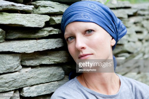 Serious Woman with Cancer