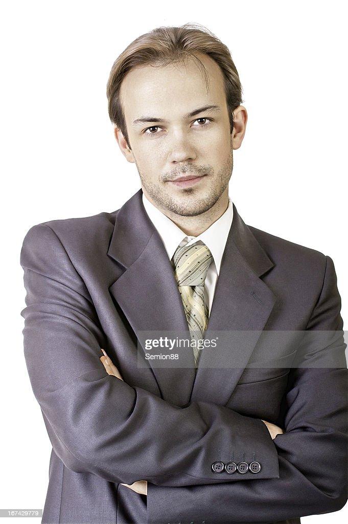 Grave jovem Empresário : Foto de stock