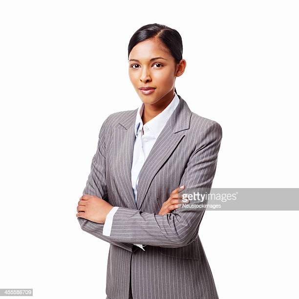 Serious Young Businesswoman - Isolated