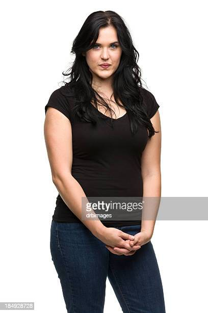 Serious Young Woman Standing