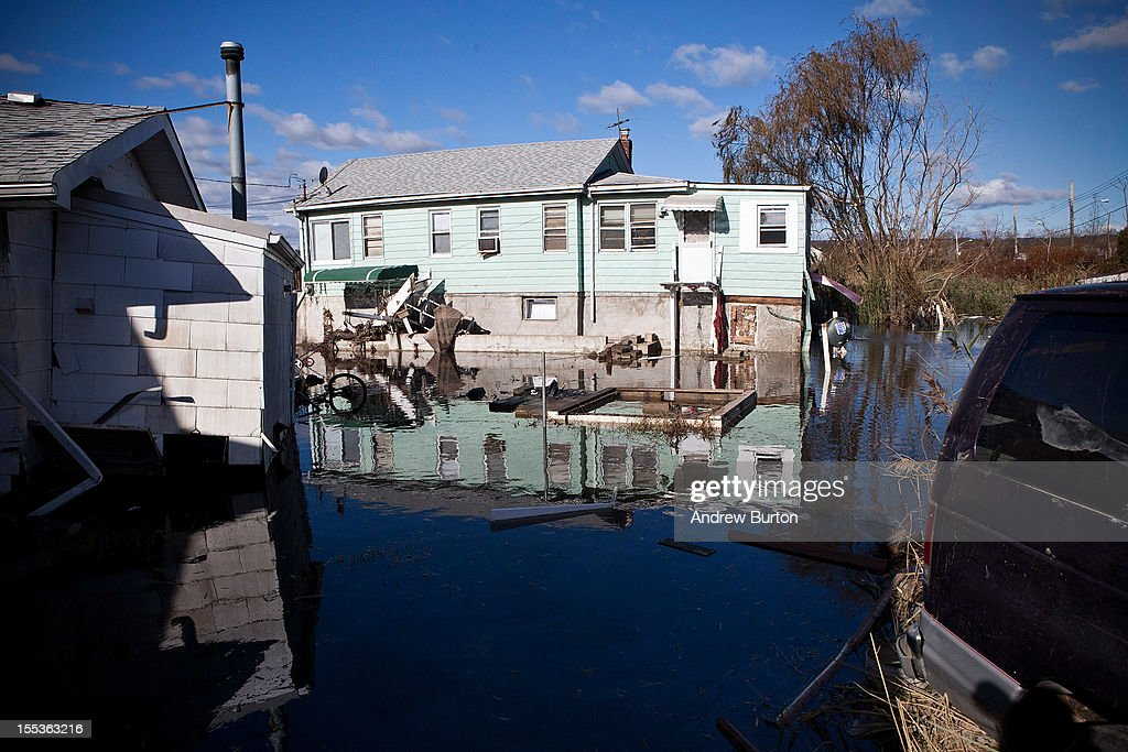 A seriously damaged home is seen in the Midland Beach neighborhood of Staten Island on November 3, 2012 in New York City. As clean up efforts from Superstorm Sandy continue, colder weather and another storm predicted for next week are beginning to make some worried.